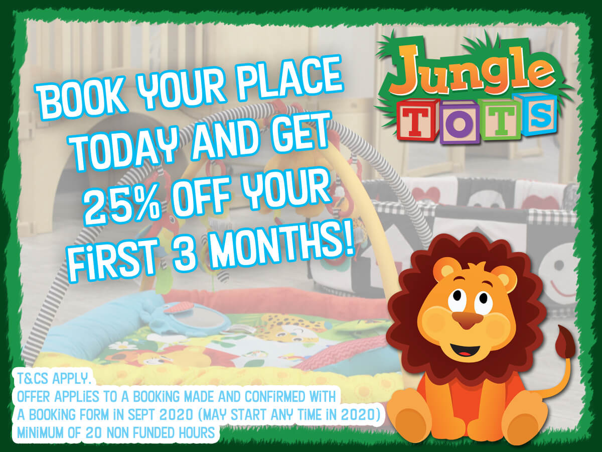 Childrens Day Nursery Offer Peterborough next to Safari Play